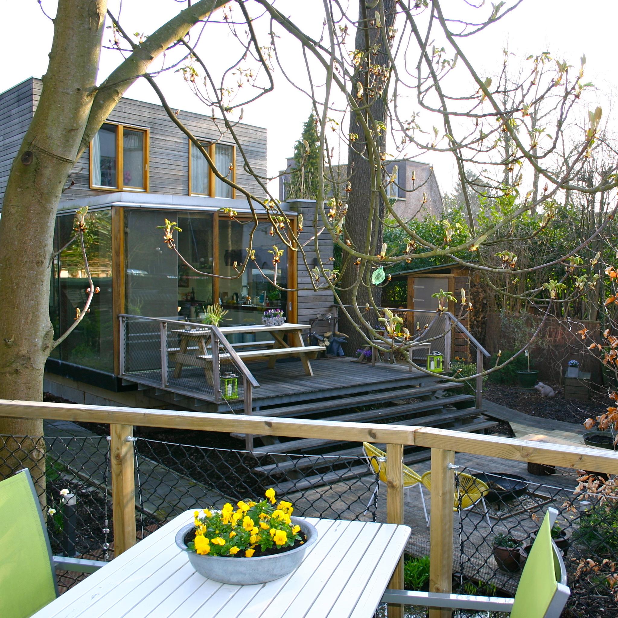 Uitzicht vanaf het terras van Eindhoven City Lodge